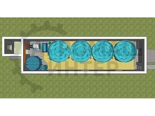 Продаем модульную форелевую ферму (УЗВ)