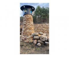 Природный дикий камень песчаник, известняк, доломит, базальт, галька.